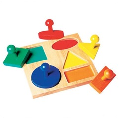 Geometric Shape Puzzle Board