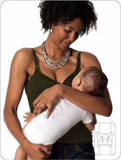 fedec6877e9fc She desperately searched for a nursing top that provided full support and  easy B1 breast access ...