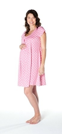 14ec56fe85010 I love that it fits me now while I'm pregnant and then I can wear it as a nursing  nightgown after baby comes. It has slits for easy access to breastfeed ...