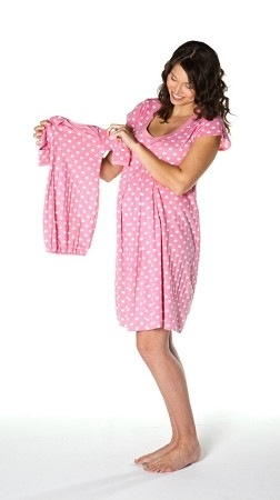 73c9e4a1e8dae Baby Be Mine Maternity Nursing Nightgown & Matching Baby Romper Review +  Discount Code