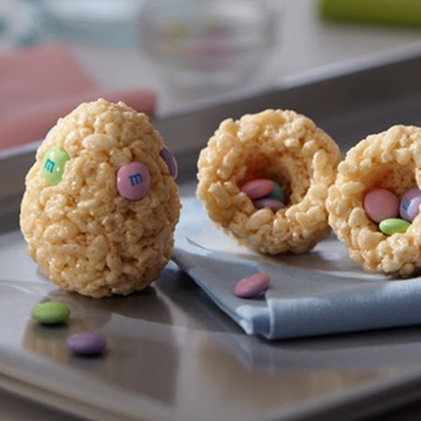 rice crispy treat eggs