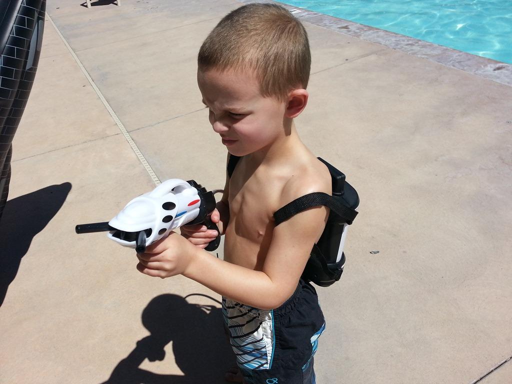 Aeromax Astronaut Helmet Water Gun Inflatable Space Shuttle Bundle