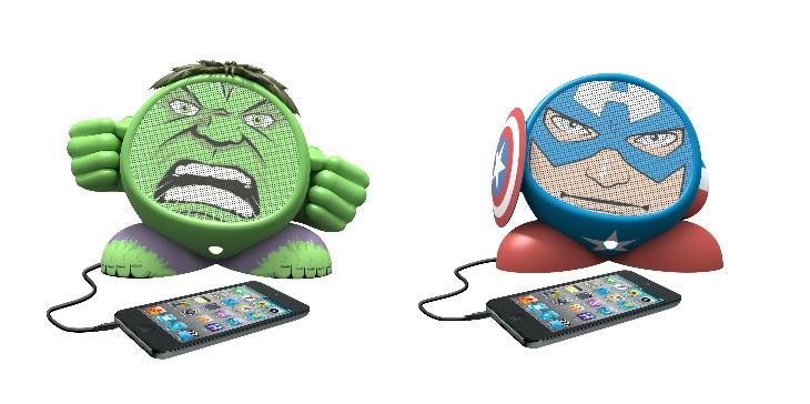 Marvel-Avengers-iHome-Portable-Speaker-MP3-Player-Hulk-Captain-America