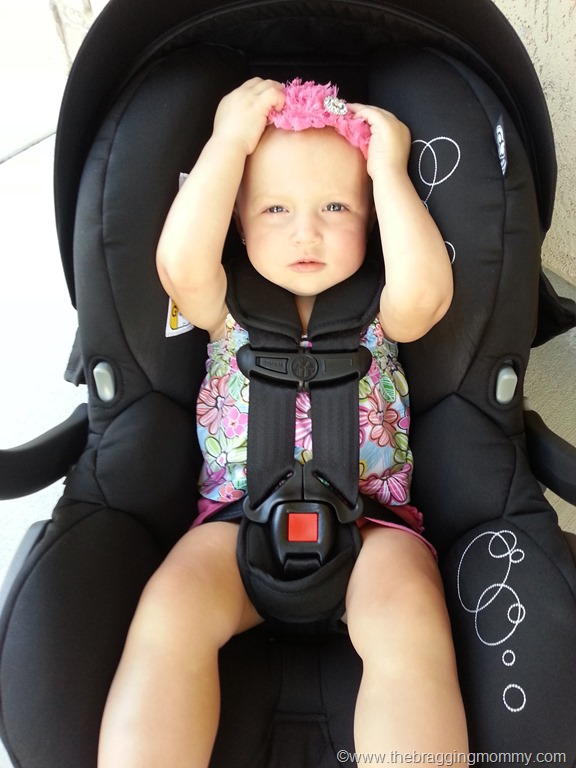 The 5 Point Harness Is Easy To Adjust With Press Of A Button And Pull Strap Right On Front Car Seat
