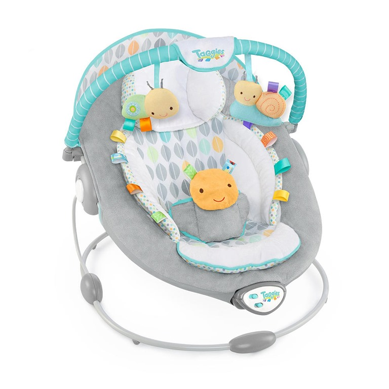 Nursery makeover taggies soft n snug bouncer and owl 4 for Porte bebe toys r us