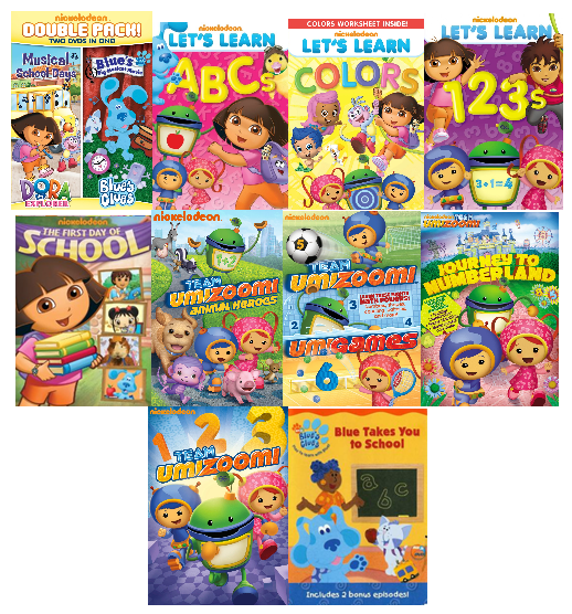 Nickelodeon Back To School 10 DVD's Prize Pack Giveaway