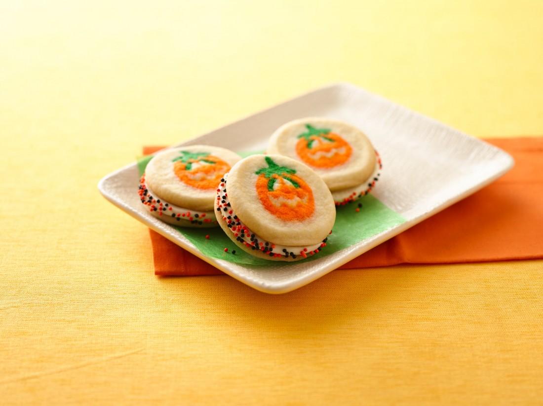 Playful Pumpkin Sandwich Cookies