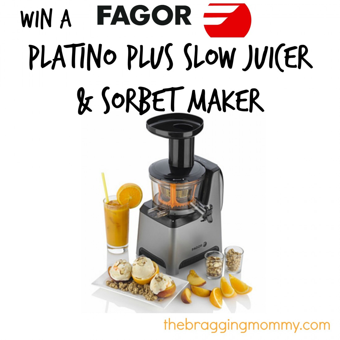 Fagor Platino Plus Slow Juicer And Sorbet Maker Reviews : {Brag Worthy Christmas} Fagor America Platino Plus Slow Juicer & Sorbet Maker Review and Giveaway