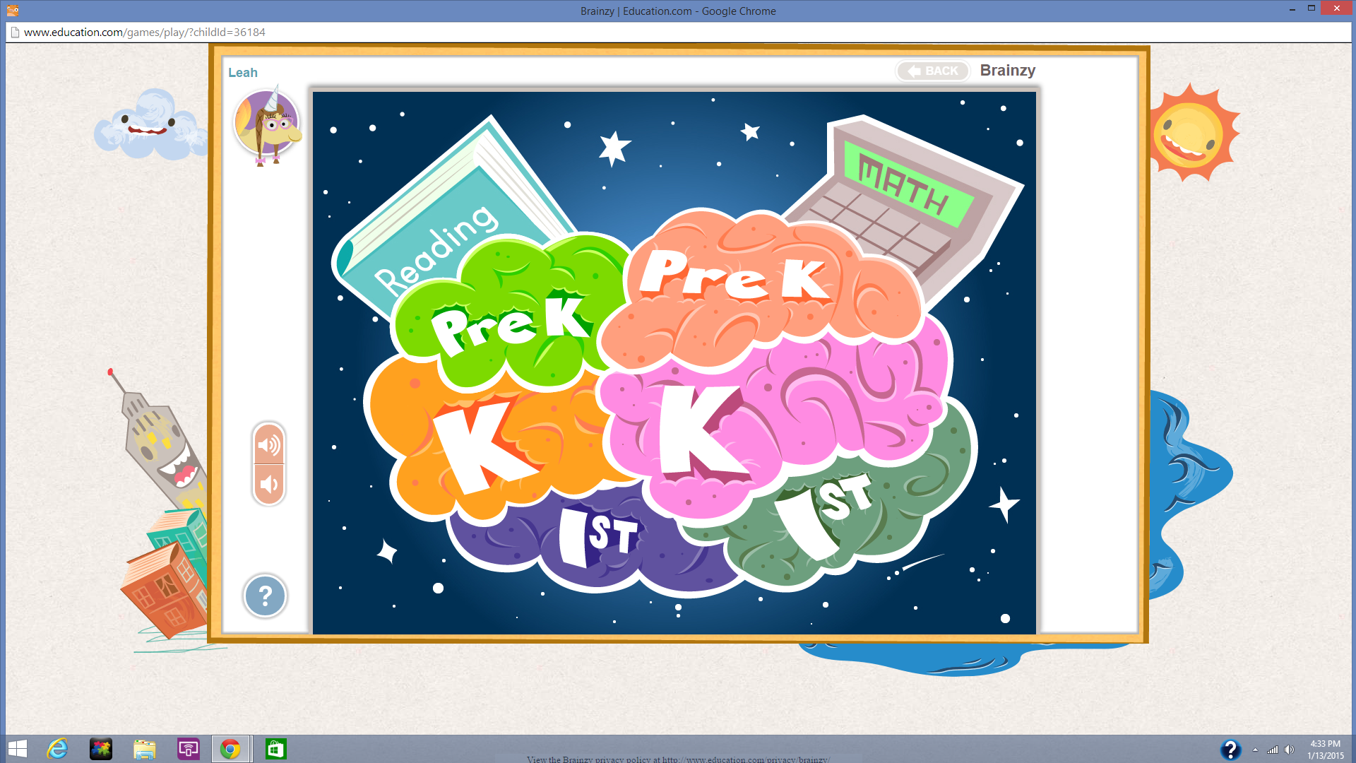 Brainzy Educational website for the puter and Tablets