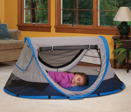 I was pleasantly surprised when it arrived and I saw that it is already assembled and ready for use. Opening it was very easy and I love that it can be set ... & A Fun Travel Bed for Your Child ~ KidCo PeaPod Plus Review and ...