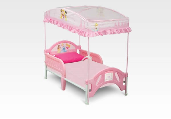 A Princess Nights Sleep Disney Princess Canopy Toddler Bed Review