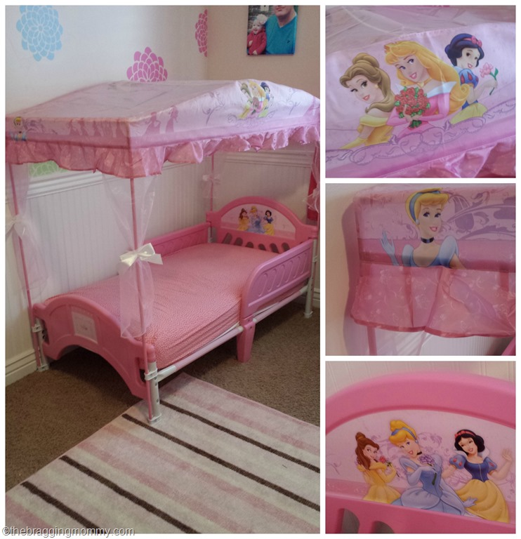 princesscanopybedcollage & A Princess Nights Sleep ~ Disney Princess Canopy Toddler Bed Review
