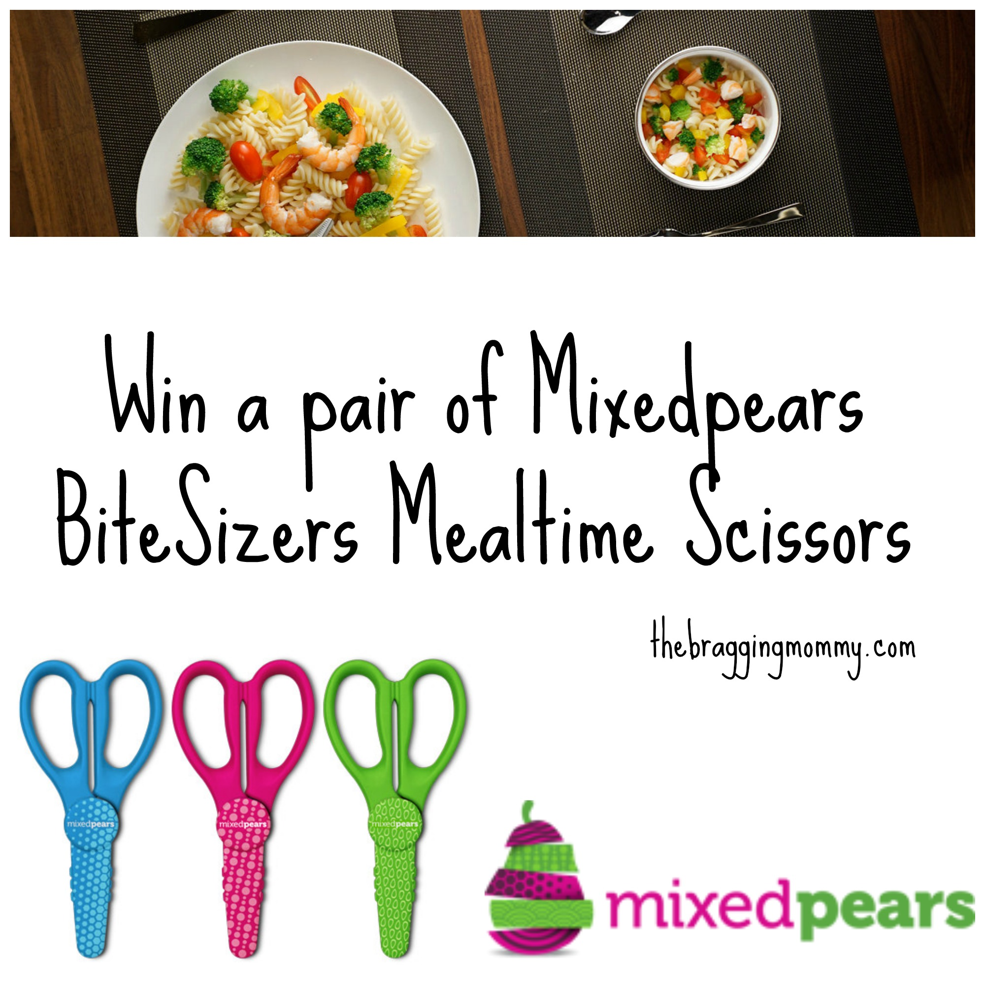 Mixedpears BiteSizers Mealtime Scissors Review and Giveaway