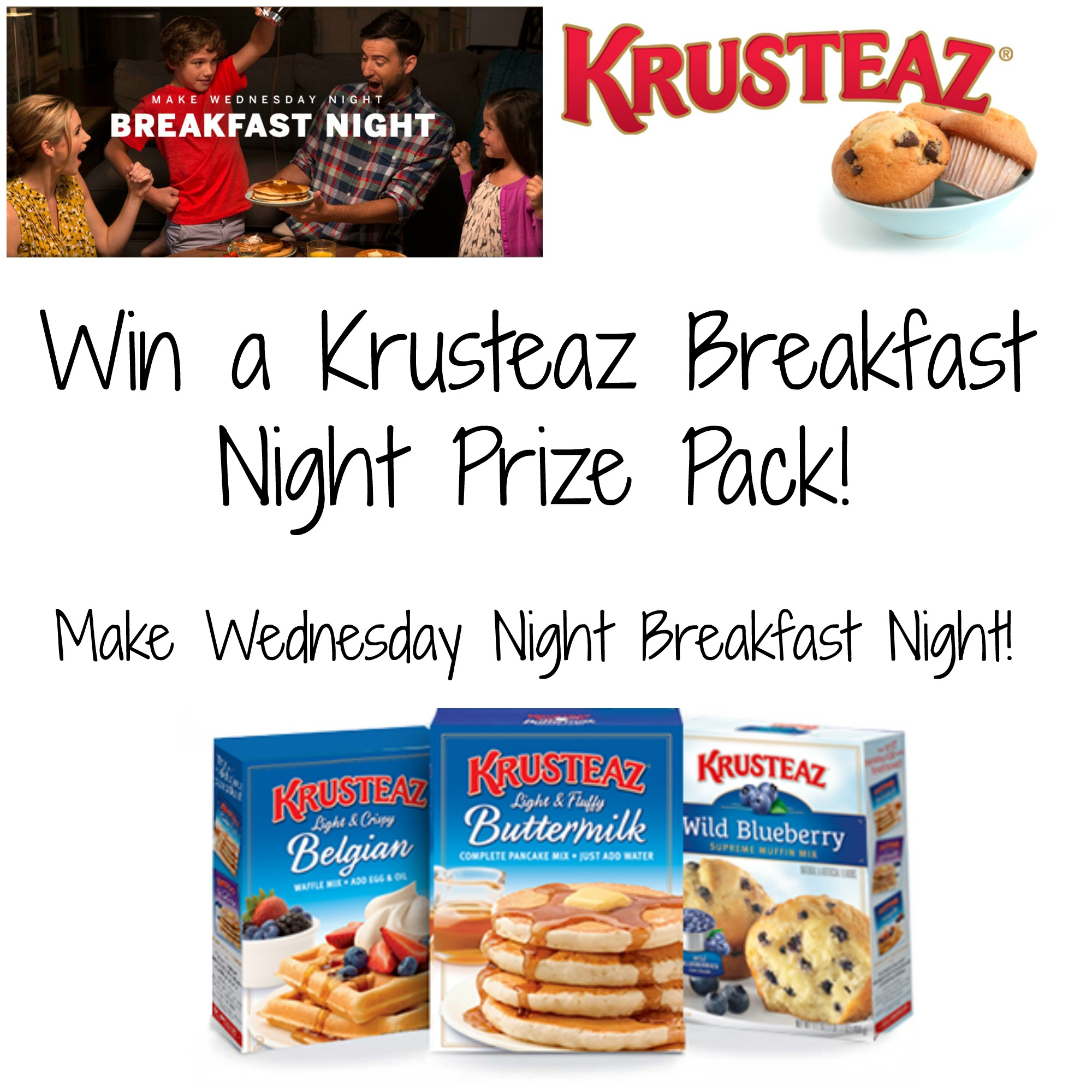 @Krusteaz #BreakfastNight is the Best!