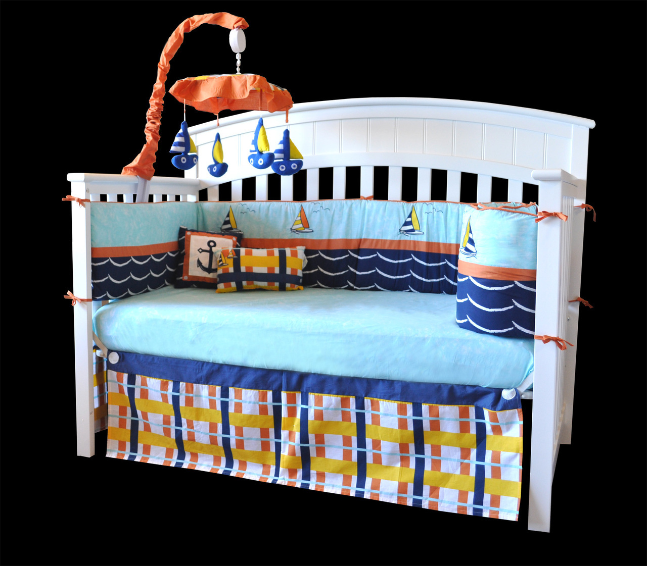 Nautical Infant Bedding: DK Leigh Baby Bedding Review