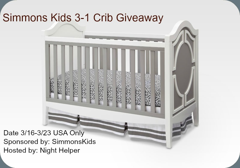 Simmons Kids 3-in-1 Hollywood Crib Giveaway