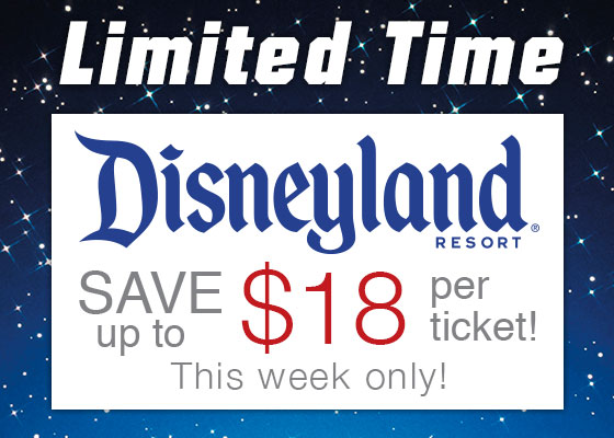 Disneyland Tickets Sale Through May 2nd with Get Away Today!