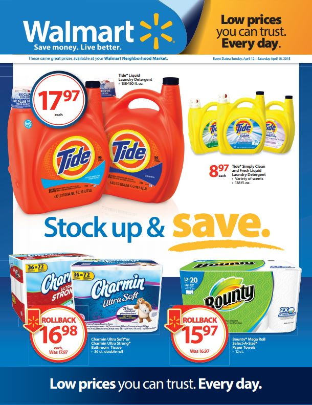 P&G Walmart Stock & Save Event + $25 Walmart Gift Card Giveaway