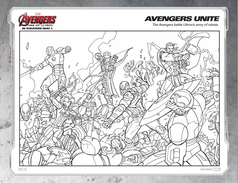 Free printable marvel s avengers age of ultron coloring for Coloring pages of the avengers