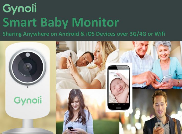 gynoii smart baby monitor review and giveaway. Black Bedroom Furniture Sets. Home Design Ideas