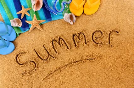 Summer beach writing