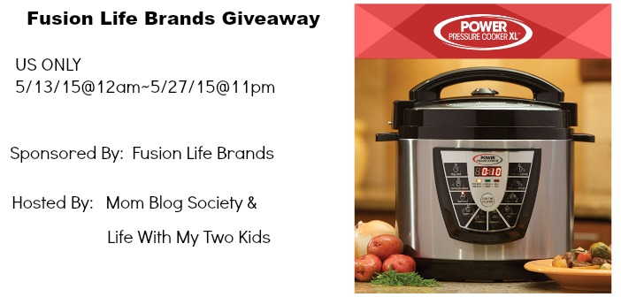 Fusion Life Brands Power Pressure Cooker XL Giveaway