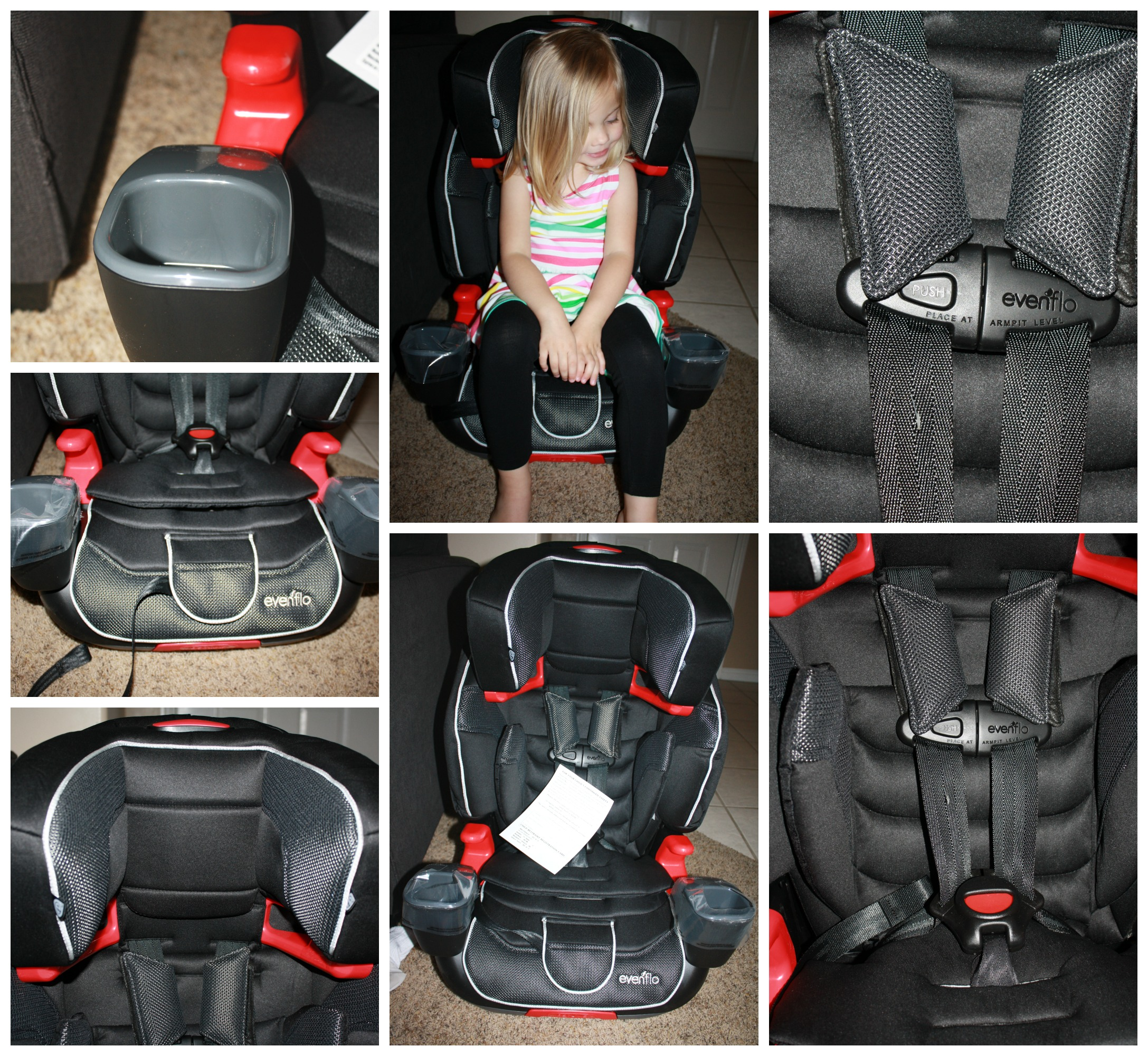 Evenflo Advanced Transitions  In  Booster Car Seat Mercury