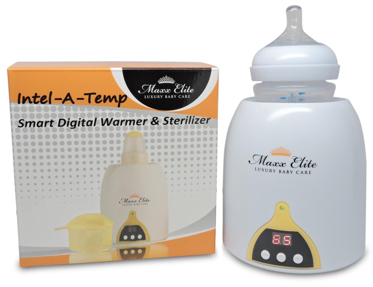 Maxx Elite Intel-A-Temp Bottle Warmer & Sterilizer w/ Digital LED Display
