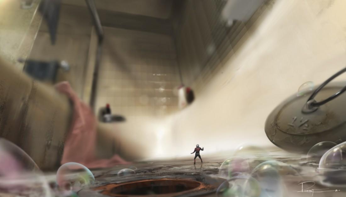 Marvel's Ant-Man..Conceptual Artwork of Scott Lang/Ant-Man..Artist: Rodney Fuentebella..? Marvel 2014
