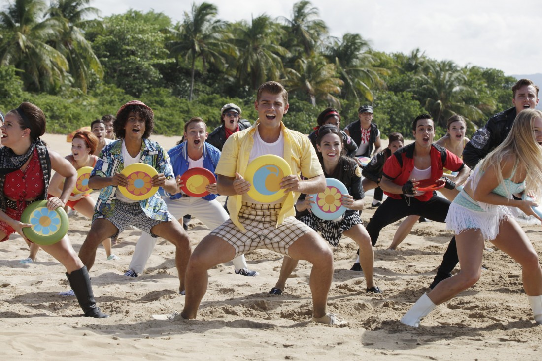 TEEN BEACH 2 - Day 1. (Disney Channel/Francisco Roman).JORDAN FISHER, KENT BOYD, GARRETT CLAYTON, WILL LOFTIS, MOLLEE GRAY