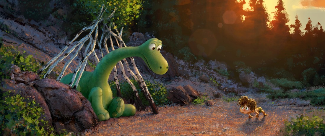 """The Good Dinosaur"" tells the story of Arlo, a lively Apatosaurus with a big heart who sets out on a remarkable journey, gaining an unlikely companion along the way—a human boy. Directed by Peter Sohn (""Partly Cloudy"") and produced by Denise Ream (""Cars 2"", ""The Good Dinosaur"" opens in theaters Nov. 25, 2015. ©2014 Disney•Pixar. All Rights Reserved."