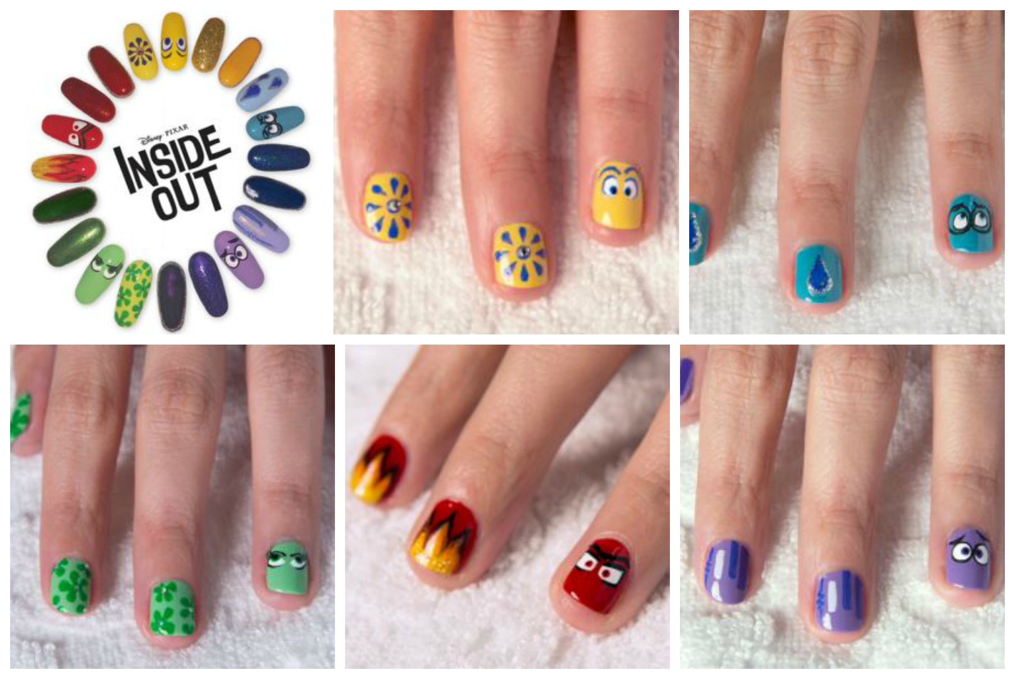 New INSIDE OUT Printable Activities! Nail Art, Board Game, & Memory Ball Craft