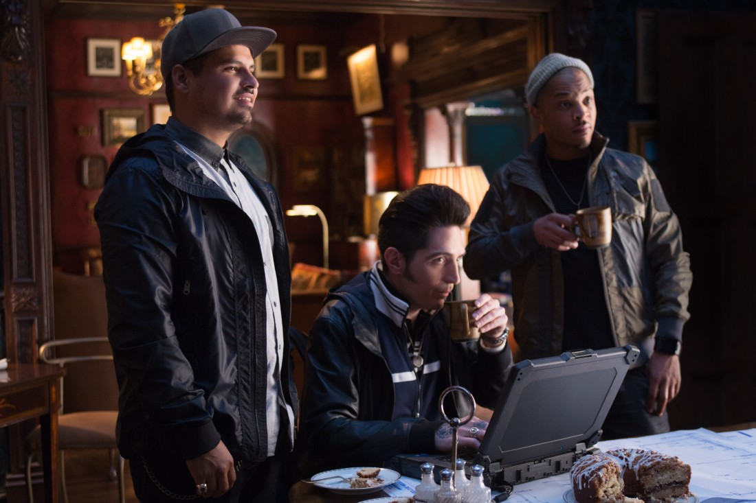 Marvel's Ant-Man L to R: Luis (Michael Peña), Kurt (David Dastmalchian), and Dave (T.I.) Photo Credit: Zade Rosenthal © Marvel 2015