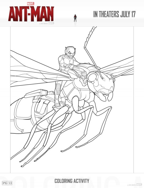 printable ant man activity coloring sheets antman is now