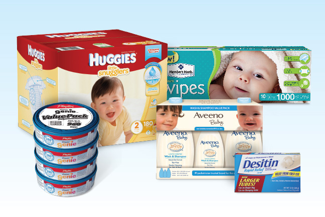 My Newborn Essentials Kit all found at Sam's Club!