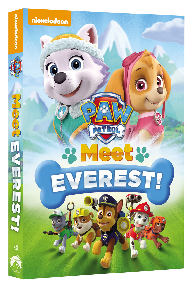 Paw Patrol Meet Everest Dvd Giveaway