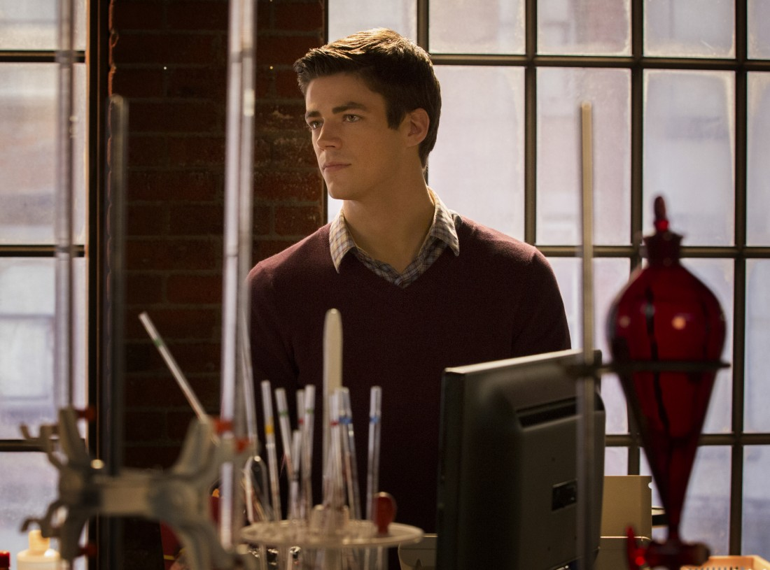 """The Flash -- """"Pilot"""" -- Image FLA101b_0218 -- Pictured: Grant Gustin as Barry Allen -- Photo: Jack Rowand/The CW -- © 2014 The CW Network, LLC. All rights reserved"""