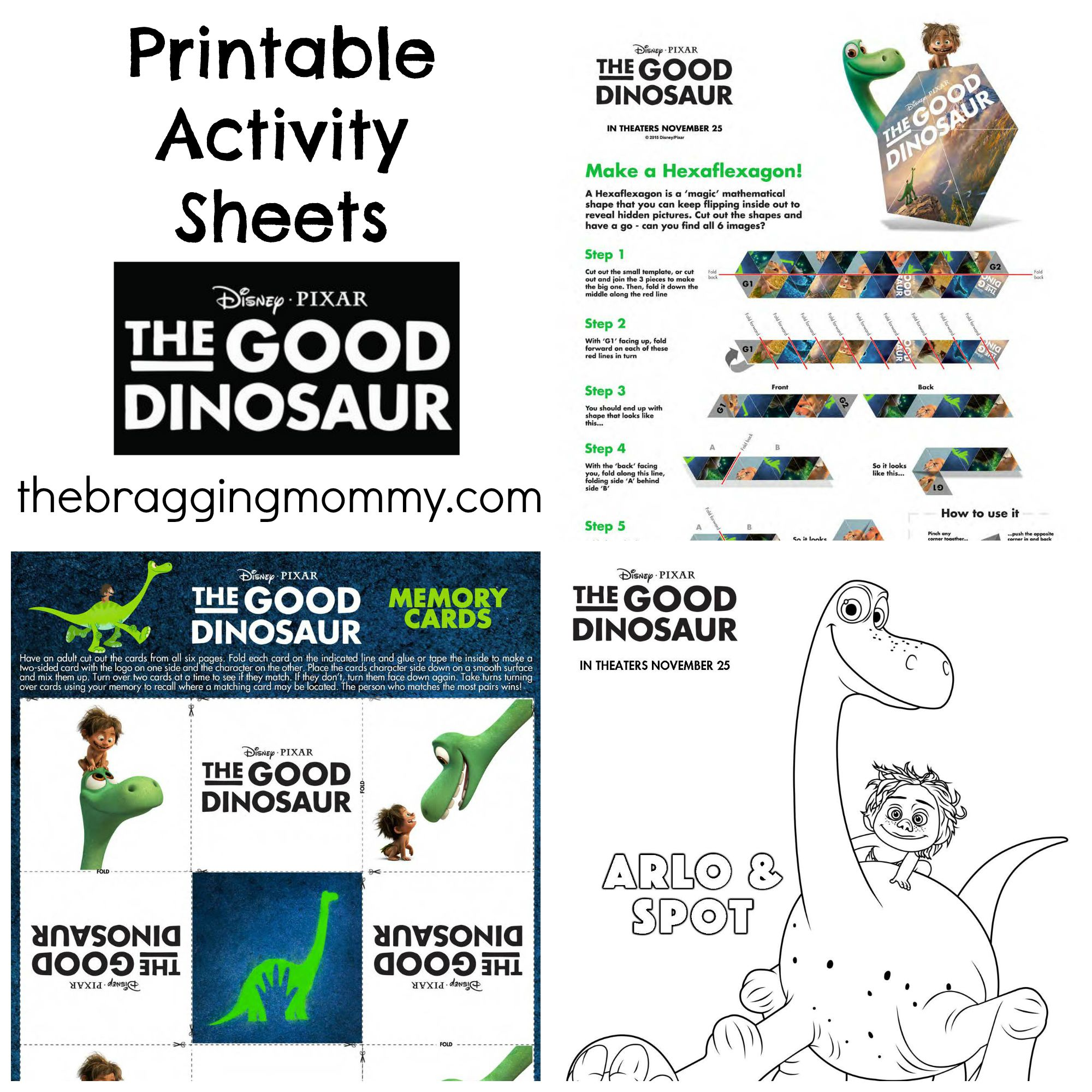 The Good Dinosaur Official Trailer + Printable Activity Sheets #GoodDino
