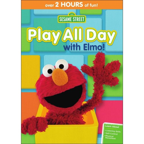 sesame street play all day with elmo dvd giveaway. Black Bedroom Furniture Sets. Home Design Ideas