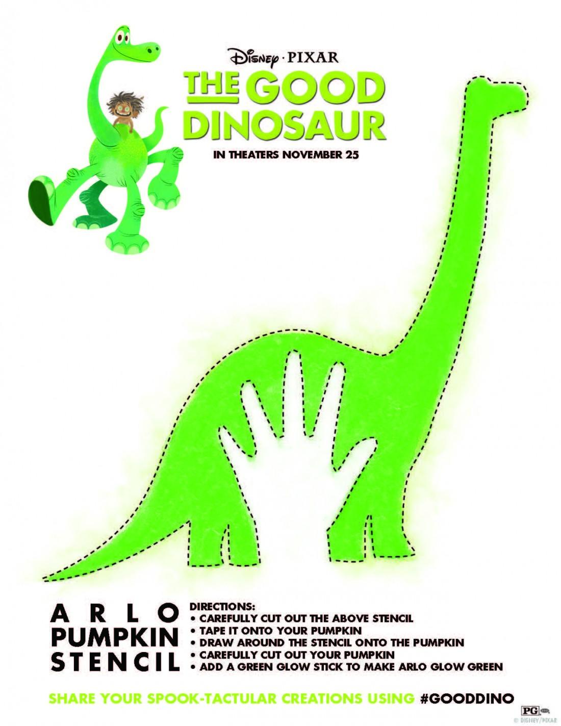 The Good Dinosaur Pumpkin Stencil & Other Printable Activity Sheets ...