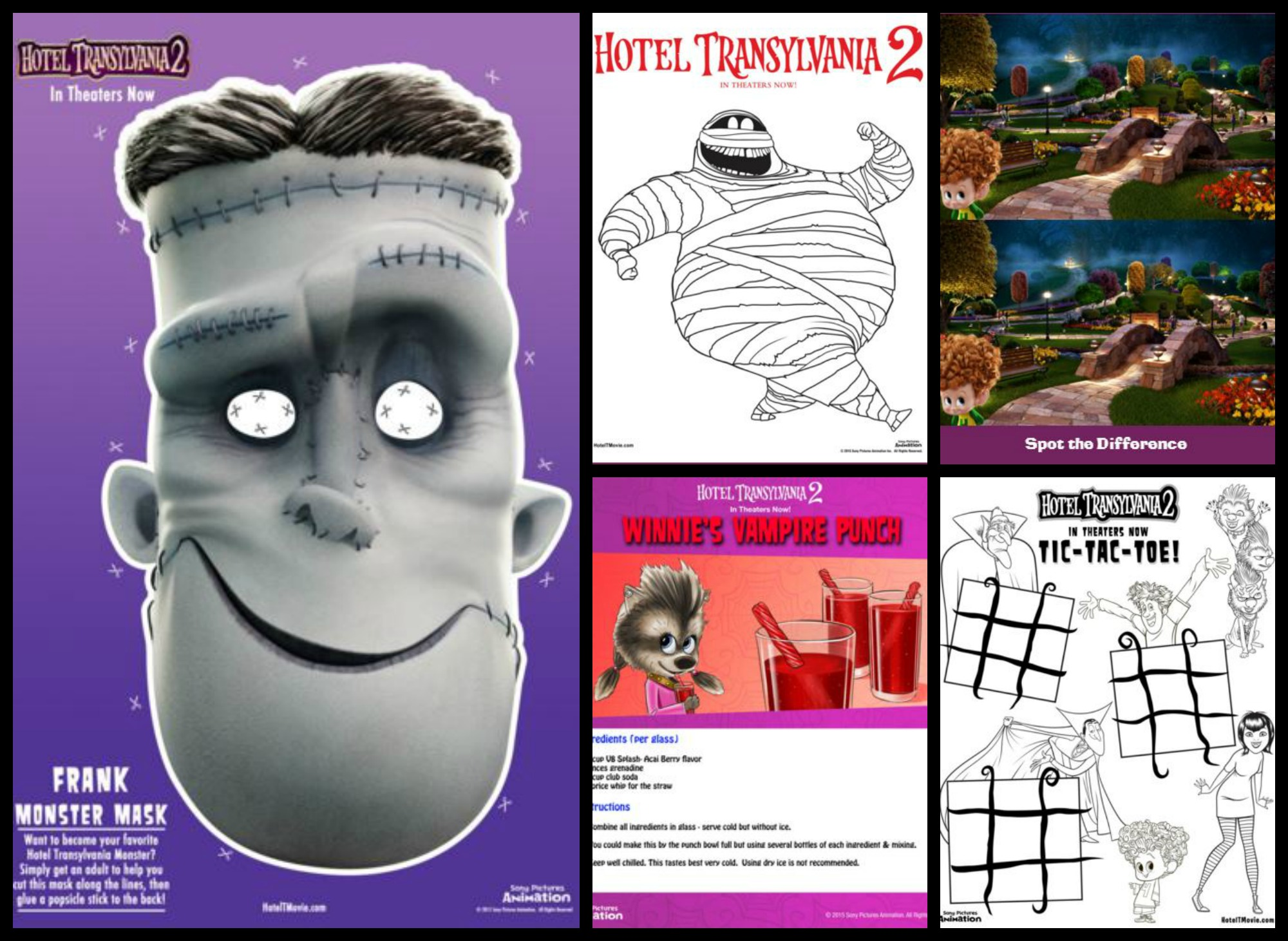 Hotel Transylvania 2 Printable Halloween Masks, Recipes, Games, and More! #HotelT2