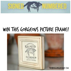 {Brag Worthy Christmas} Signed & Numbered Frames Review, Discount, and Giveaway