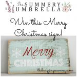 {Brag Worthy Christmas} The Summery Umbrella Home Decor Review, Discount, and Giveaway
