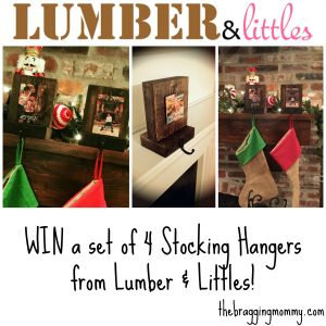 {Brag Worthy Christmas} Lumber & Littles Stocking Hangers Review, Discount, and Giveaway