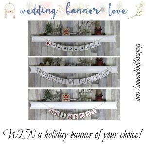 {Brag Worthy Christmas} Wedding Banner Love Review, Discount, and Giveaway