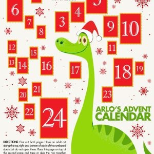 The Good Dinosaur Christmas Printables (Advent Calendar, Snowflakes, & More) #GoodDinoEvent