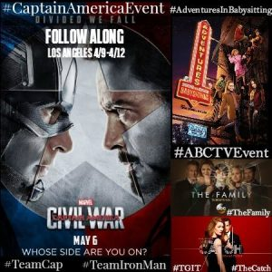 Follow Me As I Head to The #CaptainAmericaEvent Next Week (4/9-4/12)