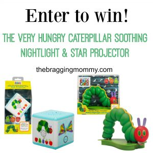 The Very Hungry Caterpillar Soothing Nightlight & Star Projector Giveaway