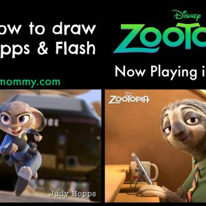 Learn How to Draw Judy Hopps & Flash from Disney's ZOOTOPIA ~ Now Playing in Theaters #Zootopia