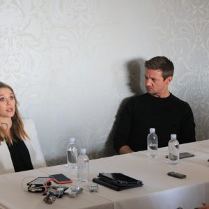 Talking Civil War with Jeremy Renner (Hawkeye) & Elizabeth Olsen (Scarlet Witch) #CaptainAmericaEvent